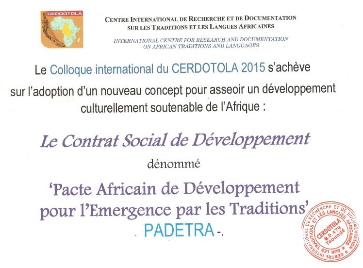 PADETRA :: CONFERENCE INTERNATIONAL DU CERDOTOLA